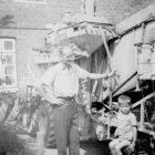 der erste Mähdrescher 1957
